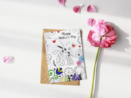 Mother's Day Cards to Color!