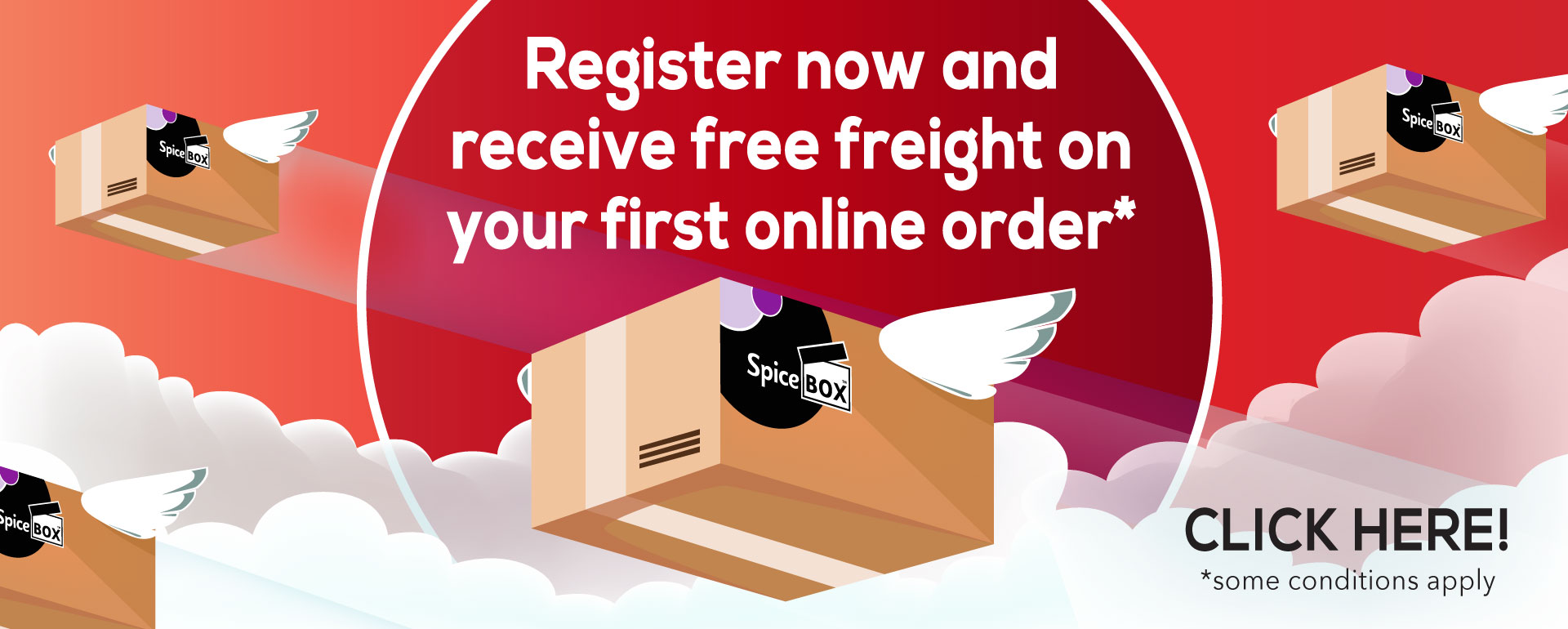 Register for Free freight on your first online order