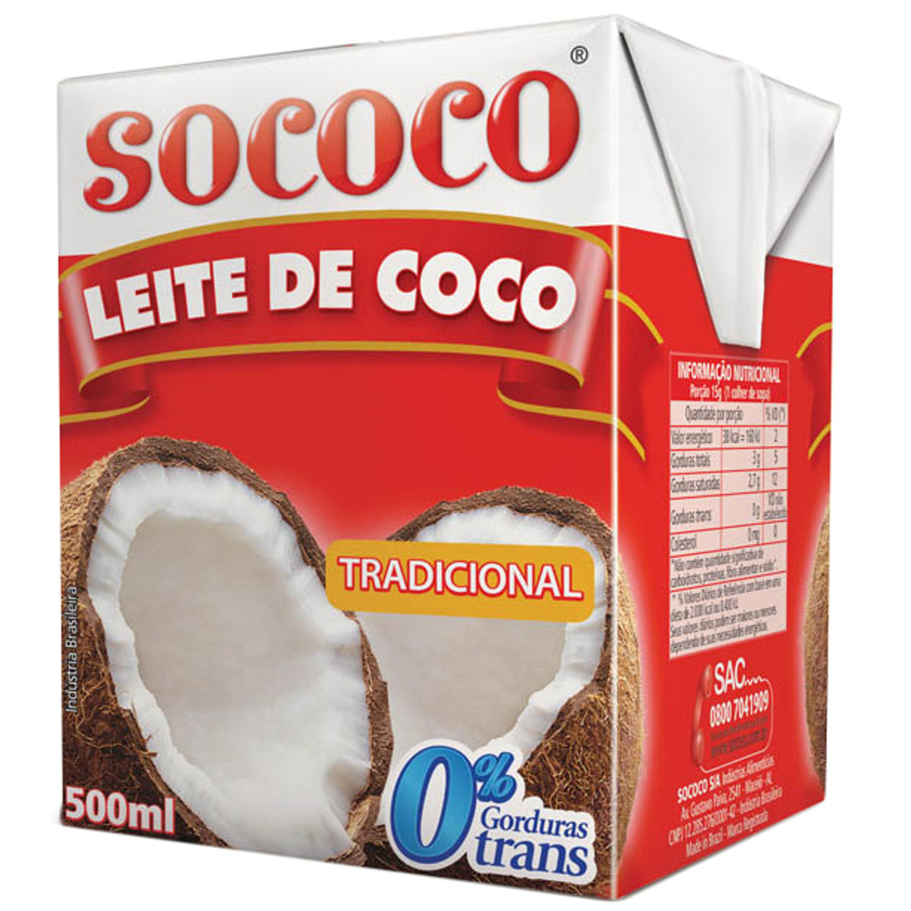 b1bc26424 LEITE DE COCO SOCOCO 200 ML - BAYD - Brazil At Your Door