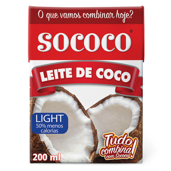 LEITE DE COCO LIGHT SOCOCO