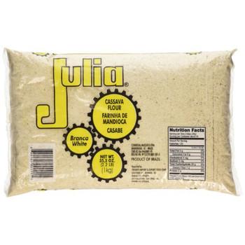 Farinha de Mandioca Crua Julia 1kg.