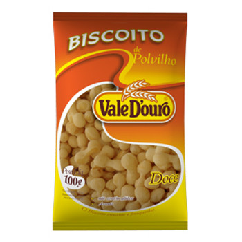 BISCOITO POLVILHO VALE D OURO DOCE 100G