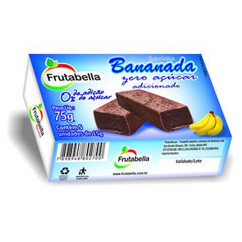 BANANADA ZERO ACUCAR FRUTABELLA 24 UNIDADES DE 30G