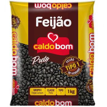 FEIJÃO PRETO CALDO BOM 1KG