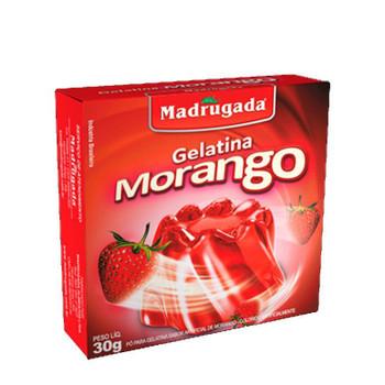 GELATINA DE MORANGO MADRUGADA 85G