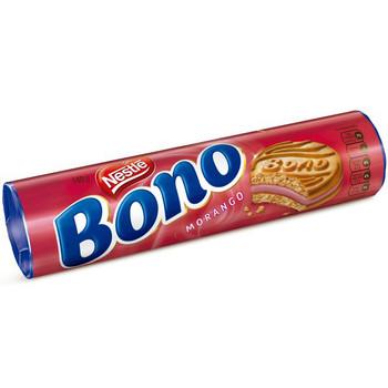 BONO®. O biscoito cheio de recheio sabor morango da Nestlé.