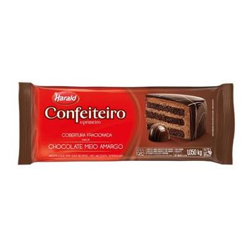 COBERTURA DE CHOCOLATE MEIO AMARGO CONFEITEIRO HARALD 1KG
