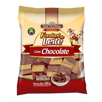 FONDANT DE LEITE COM CHOCOLATE DA COLONIA 160G