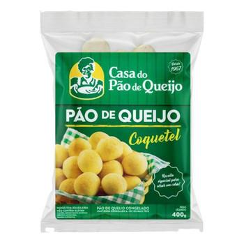 PAO DE QUEIJO CASA DO PAO DE QUEIJO COQUETEL 400G