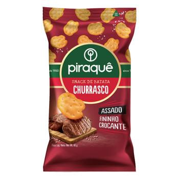 SNACK DE BATATA ASSADO CHURRASCO PIRAQUE 60G