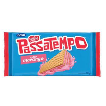 BISCOITO WAFER PASSATEMPO MORANGO NESTLE 110GR