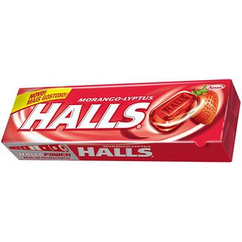 Bala tradicional Halls no sabor morango, bala refrescante que pode ser apreciada em vários momentos