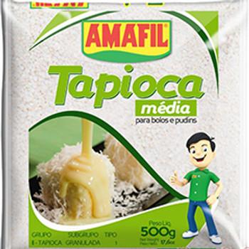 A Tapioca Granulada Amafil é indicada para fazer bolo e pudim.