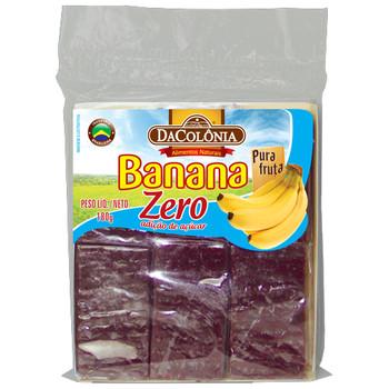 Bananada Zero Açúcar. 100% natural. Pura fruta.