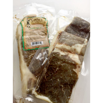 Carne Seca da marca Cortes para receitas como bolinho, escondidinho, pastel, tapioca e outros.