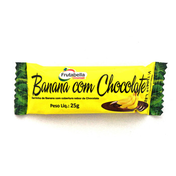 Barrinha de Banana com Cobertura de Chocolate