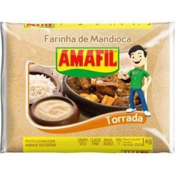 Farinha de Mandioca torrada com 1kg.
