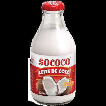 Leite de coco pronto para uso.