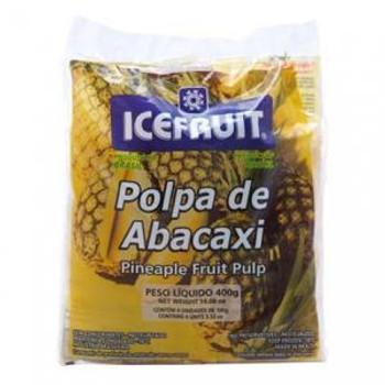 Polpa de abacaxi congelada pronta para consumo.