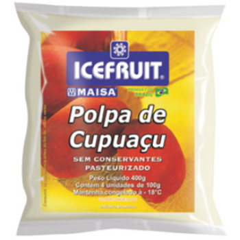 Polpa de cupuaçu congelada pronta para consumo.