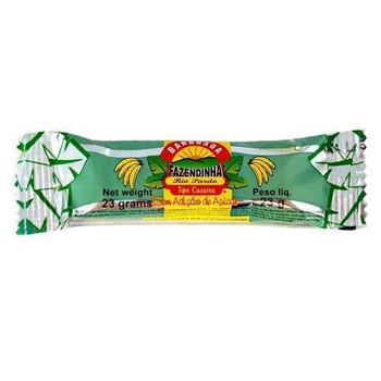 Uma deliciosa receita caseira foi o ponto de partida para a fabricação da Bananada Fazendinha. Produto sem adição de açúcar.