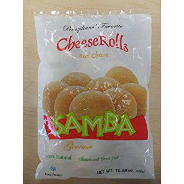 Pão de queijo congelado da marca samba. 300g.