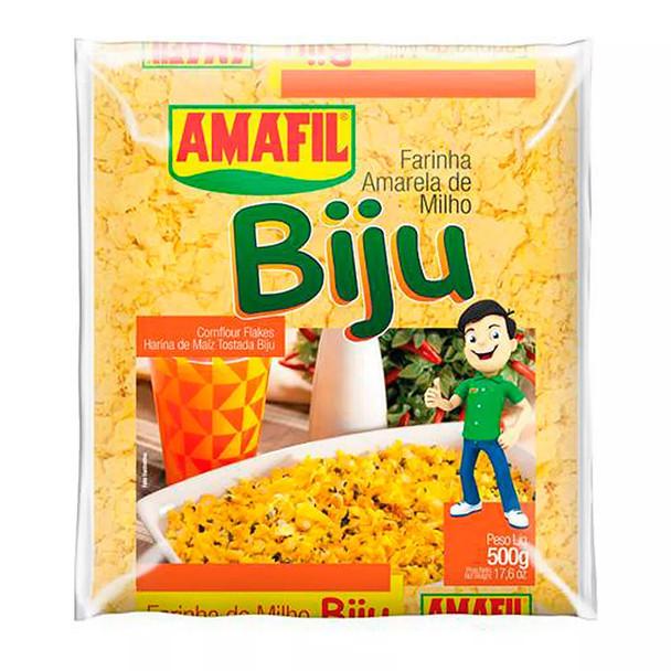 Farinha Amarela de Milho Biju Amafil.