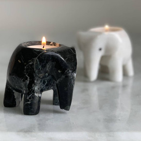 Marble Elephant T Light