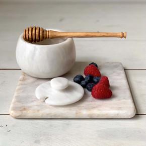 Marble Honey Pot