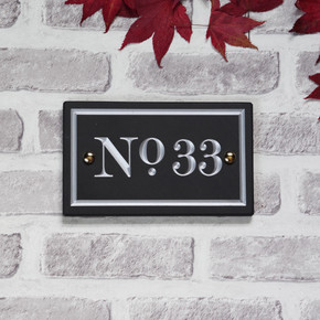Slate Vintage House Number - Traditional Font