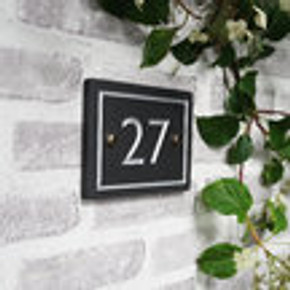 Slate Large House Number - Classic Font