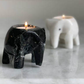 Mother's Day Elephant Marble T Light