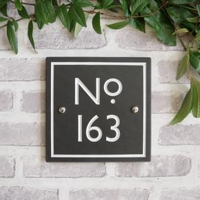 Slate Large Vintage House Number - Classic Font