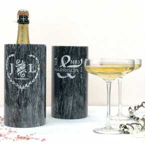 Personalised Wedding Marble Wine and Champagne Cooler