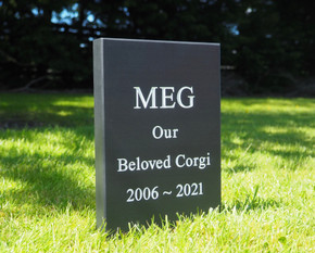 Pet Headstone with Straight Top