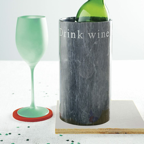 Personalised Marble Wine Cooler Light Colour