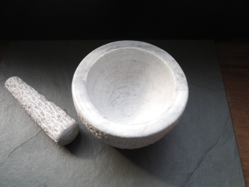 Marble Rustic Pestle and Mortar