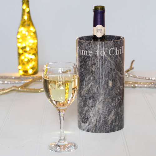 Marble Wine Cooler with saying