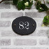 Slate Oval House Number  - Traditional Font