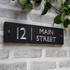 Slate Modern House Sign - Classic Font