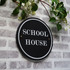 Slate  Round  House Sign - Traditional Font