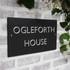 Slate Large House Sign - Classic Font