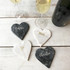 Marble Script Heart Coaster