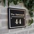 Slate Designer House Sign - Traditional Font