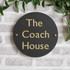 Slate Round House Sign - Classic Font