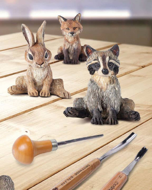 Carving & Painting Adorable Animals in Wood by Desiree Hajny