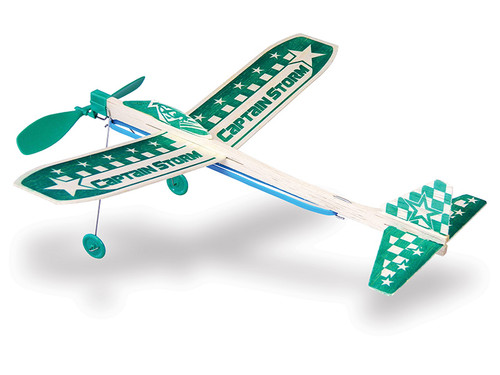 GUILLOW's Captain Storm Balsa Wood Glider MADE IN USA