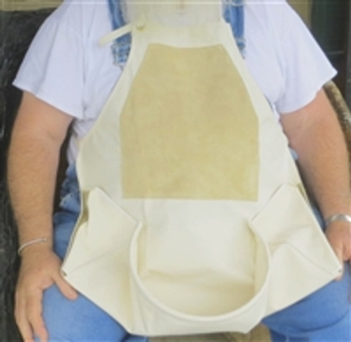 WOODCARVER APRON WITH POUCH/LEATHER