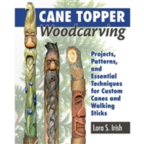 Cane Topper Woodcarving by Lora Irish
