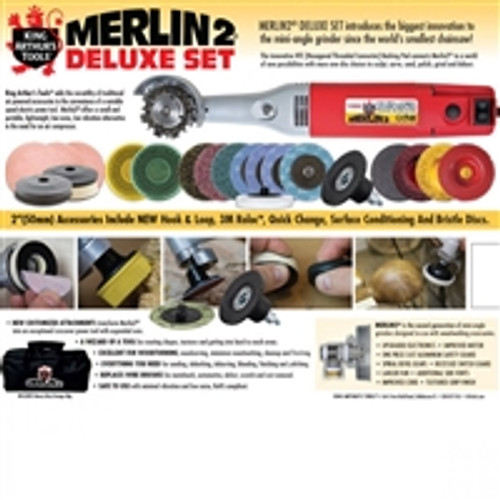 MERLIN2  DELUXE SET W/110-115V ANGLE GRINDER